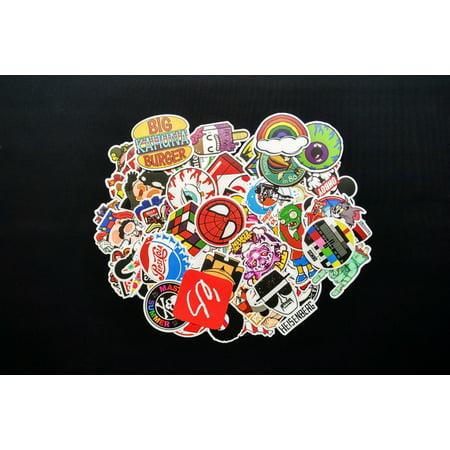 Bomb Skateboard (100 Pcs Sticker Bomb Decal Vinyl Roll for Car Skate Skateboard Laptop Luggage)