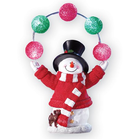 Solar Holiday Juggling Snowman