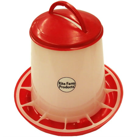 SMALL RITE FARM PRODUCTS HD 3.3 POUND CHICKEN FEEDER LID & HANDLE POULTRY
