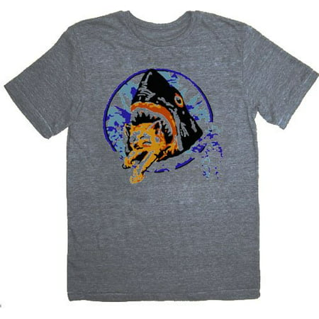 Pineapple Express Saul Silver Shark Eating Kitten Gray Adult T-Shirt (Shark Xxl)