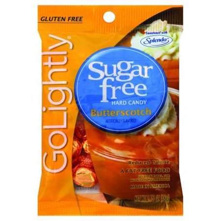 GoLightly Sugar Free Hard Candy Butterscotch, 2.75 Ounce Bag, (Best Butterscotch Hard Candy)
