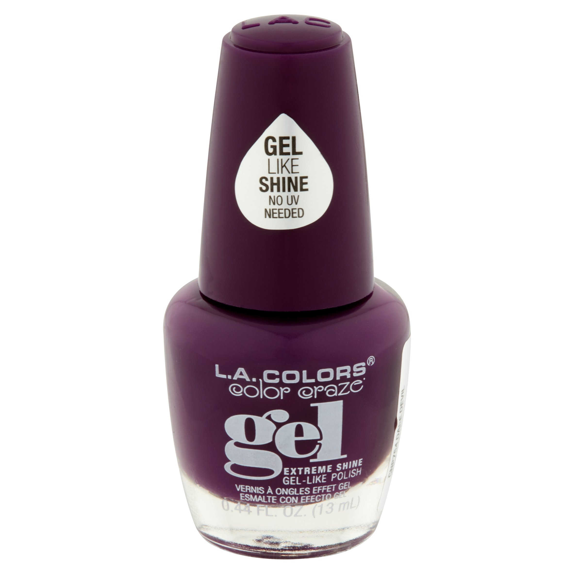 LA Colors Gel Shine Nail Polish, Risque, 0.44 Oz - Walmart.com