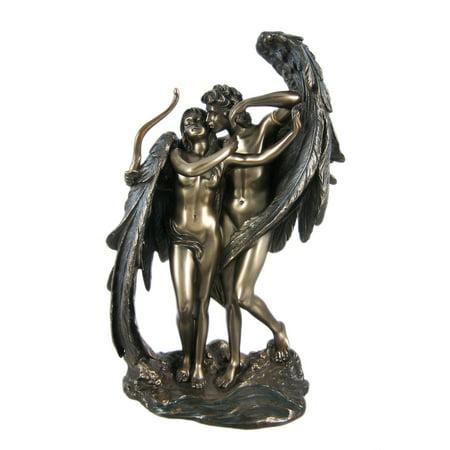 Cupid and Psyche Greek Bronzed Statue Mythology Eros ...