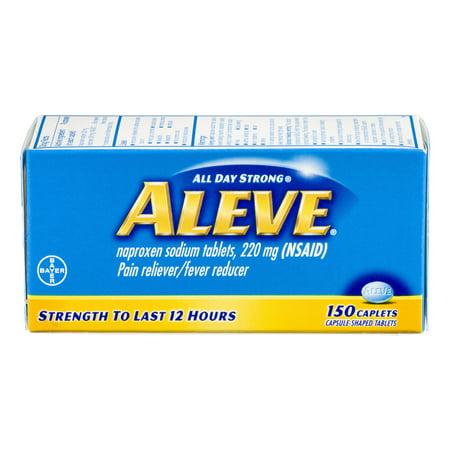 Aleve Analgésique / Fièvre Réducteur naproxène sodique Caplets, 220mg, 150 count