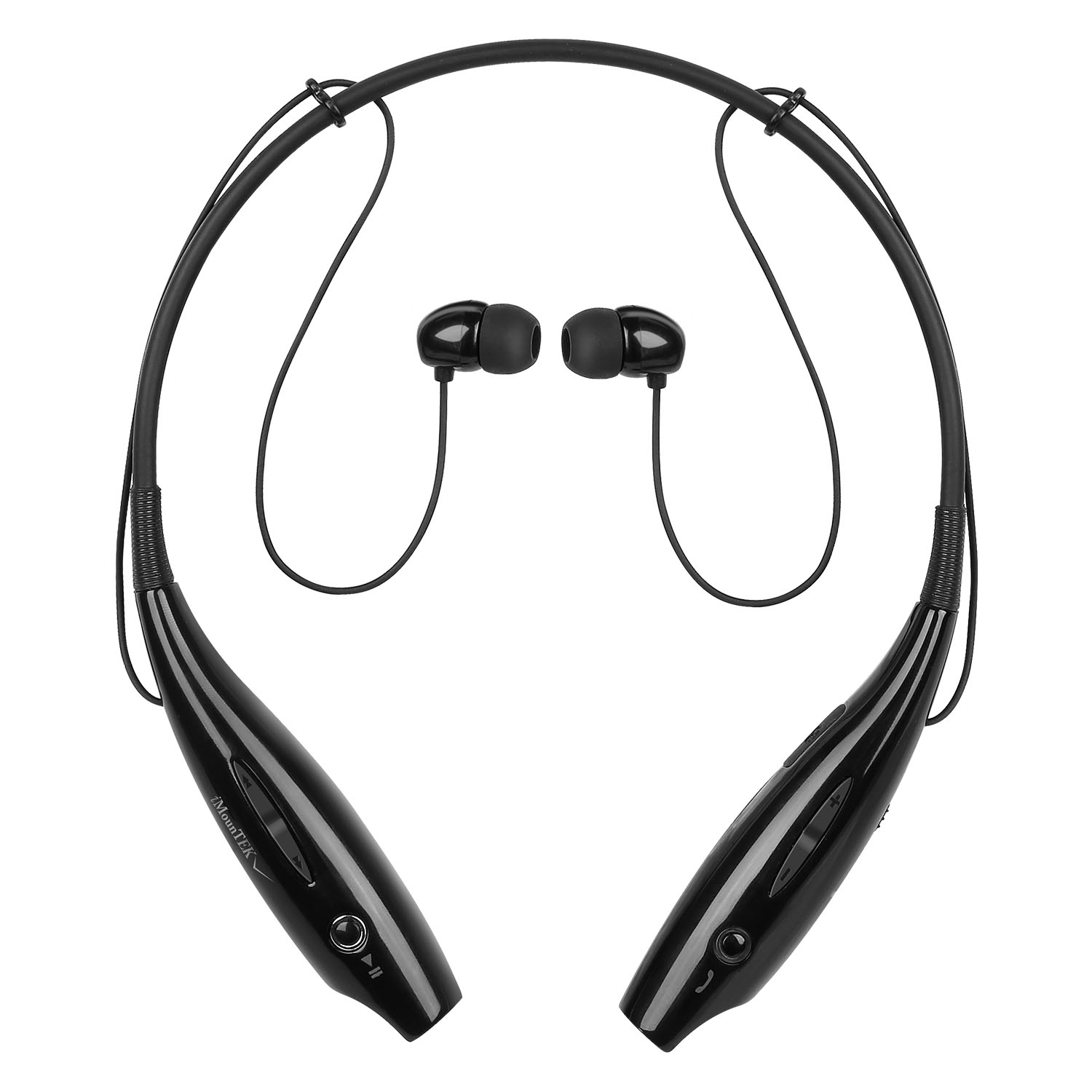 iMounTEK Bluetooth Sports Wireless Headphones With Noise Reduction - Black