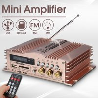 600W Mini Car Amplifier Aluminum Support USB/SD/MMC/FM Radio for Motorcycle MP3 MP4 Computer Car Home