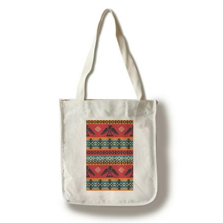 Tribal Eagle Pattern - Lantern Press Artwork (100% Cotton Tote Bag - Reusable)
