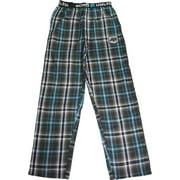 Ecko UNLTD Mens Woven Cotton Blend Lounge Sleep Pajama Pant - Runs 1 Size Small, 40732 Aqua Green & Black Plaid / Small