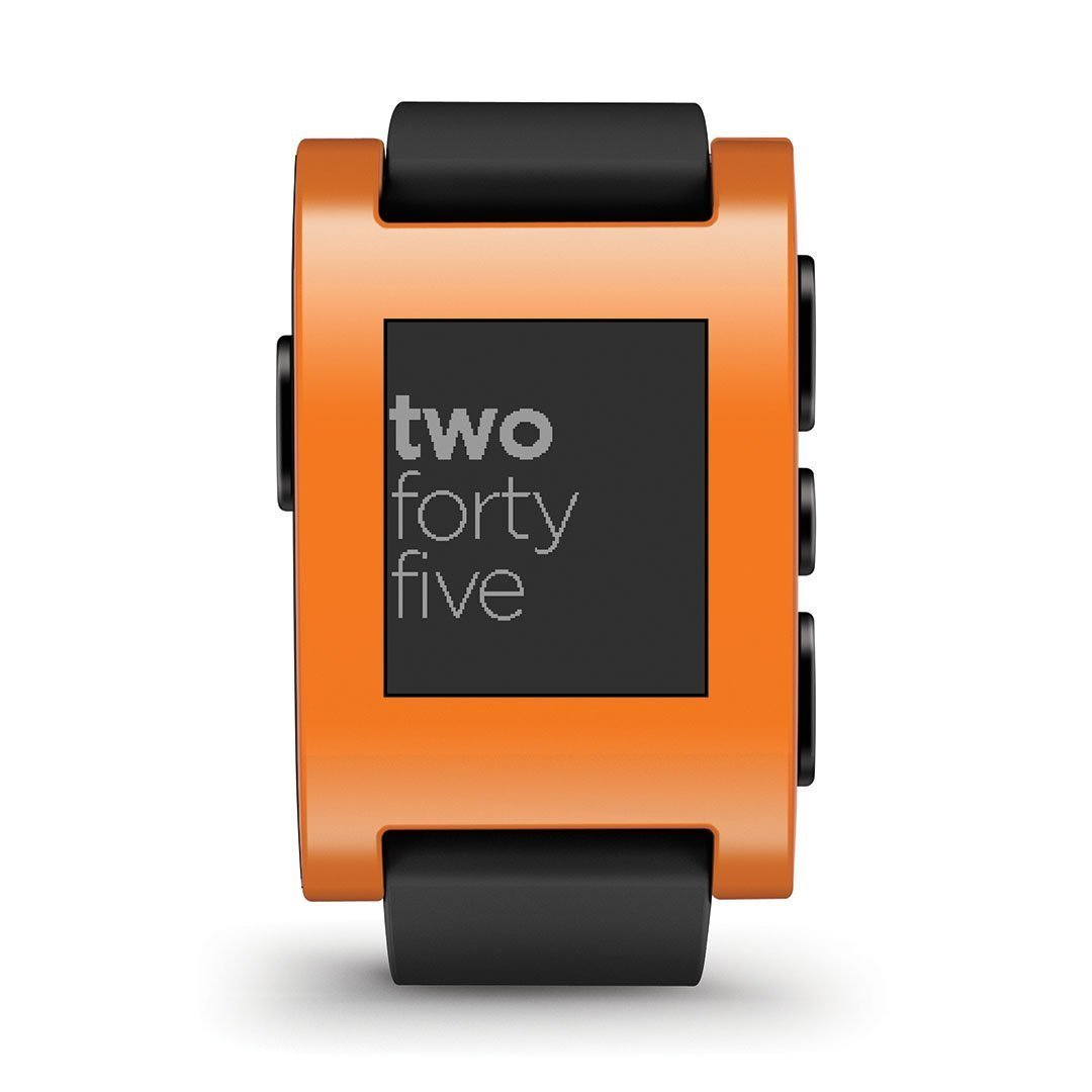 Pebble Classic Bluetooth Smartwatch Rechargeable and iPhone - Android Compatible