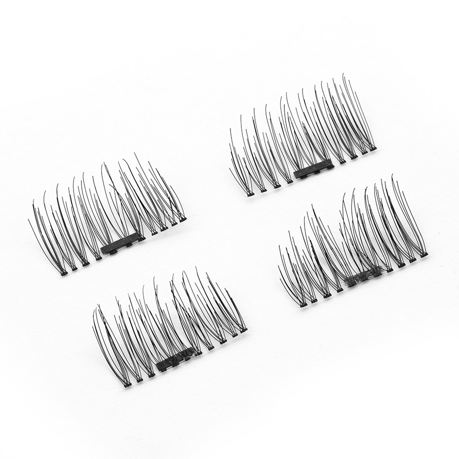 Ktaxon 4Pcs False Eyelashes Makeup Natural Eye Lashes Extension 3D Magnetic without Glue