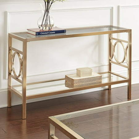 Steve Silver Co Olympia Sofa Table (Brass Painted Table)