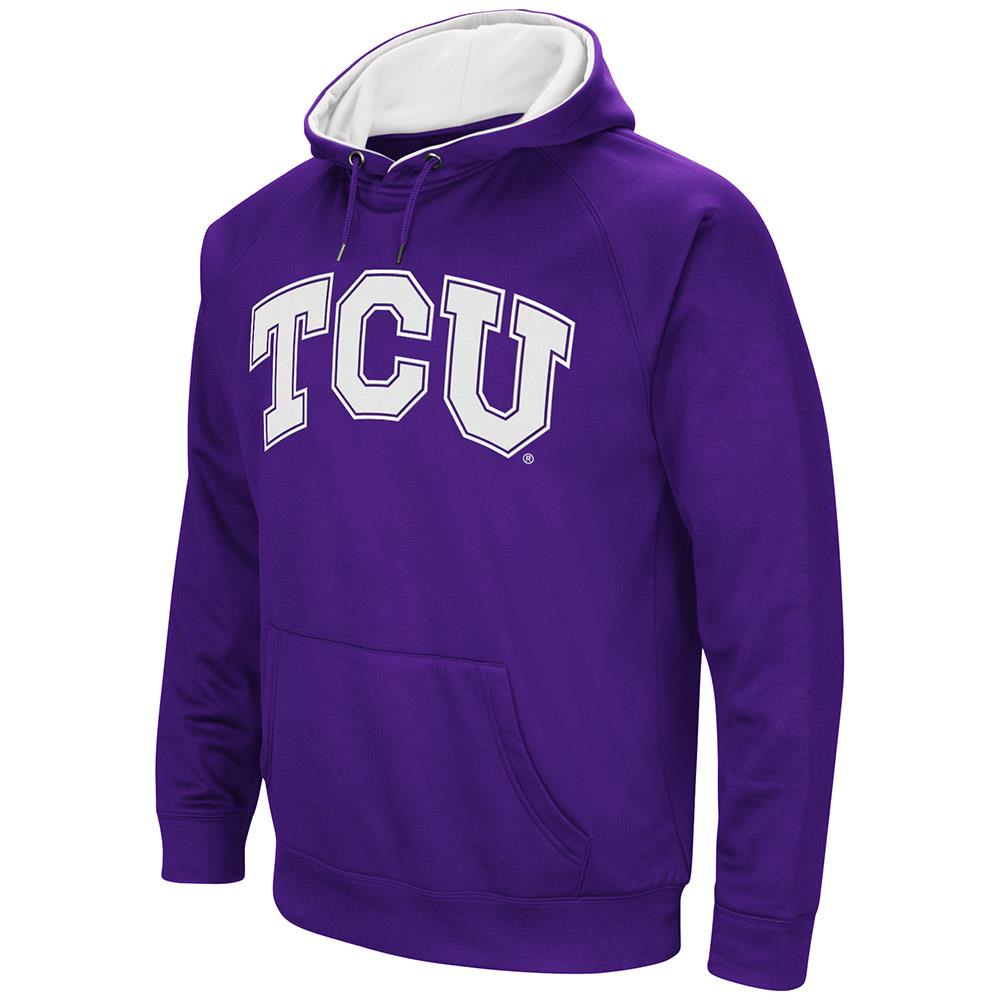 Mens TCU Horned Frogs Fleece Pull-over Hoodie by Colosseum
