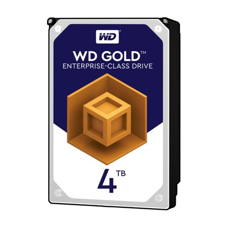 WD Gold 4TB Enterprise-Class Hard Disk Drive - 7200 RPM Class SATA 6Gb/s 256MB Cache 3.5 inch - (Wd 4tb Elements External Desktop Hard Disk Drive)