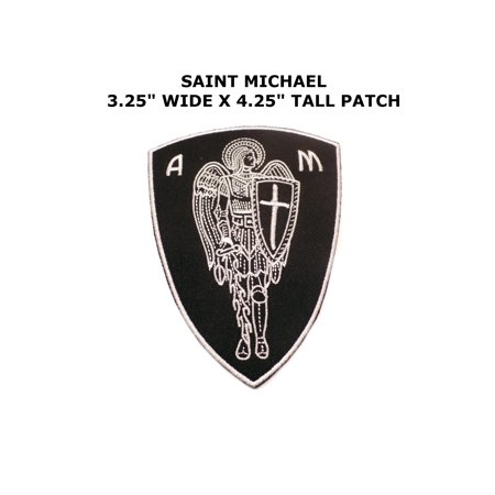 Saint Michael Morale Embroidered Iron/Sew-on Christian Theme Logo Patch/Applique ()
