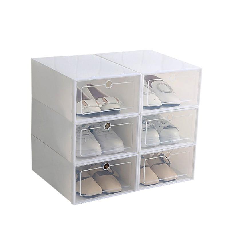 1Pc Portable Plastic Clear Shoe Storage