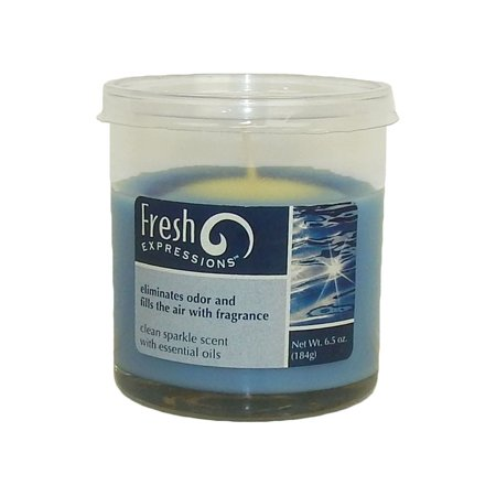 Candle Lite Fresh Expressions Clean Sparkle Scented Jar Candle 6.5oz