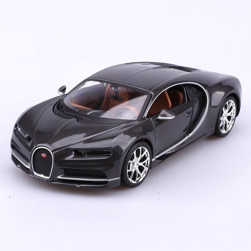 MAISTO 1:24 DISPLAY - SPECIAL EDITION - BUGATTI CHIRON NO RETAIL BOX GREY DIECAST TOY CAR 34514