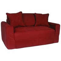 Fun Furnishings Sofa Bed in Suede, Multiple Colors