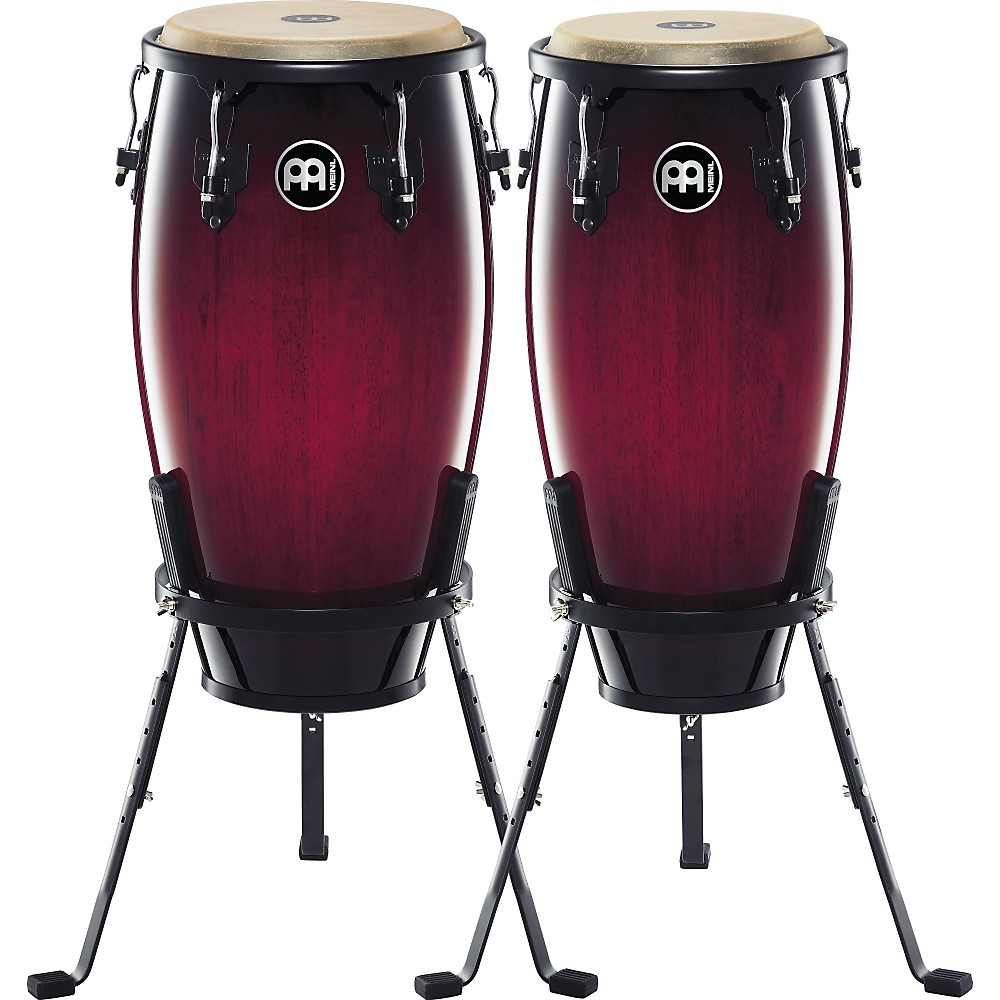 "Meinl Percussion Headliner Series 11"" & 12"" Conga Set w/ Basket Stands, Wine Red Burst"