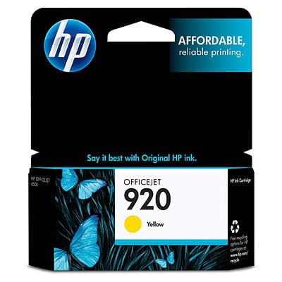 HP 920 Yellow Original Ink (920 Cartridge)