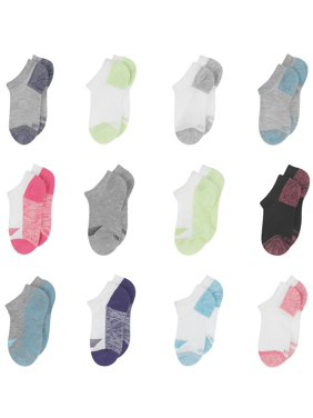 Hanes Girls Socks, 12 Pack No Show Cool Comfort (Little Girls & Big Girls)