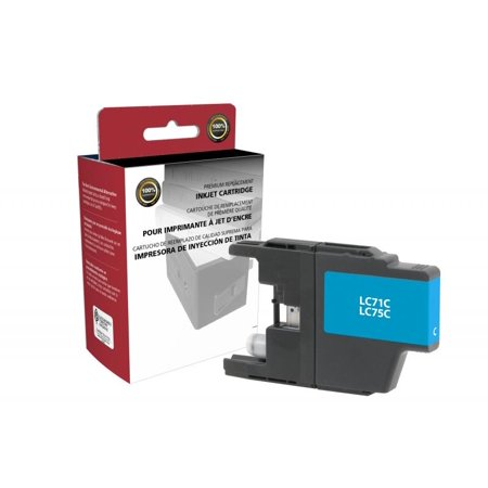 Clover Imaging Group 117424 High Yield Cyan Ink Cartridge for Brother LC71C LC75C, 600 Yield 85 Light Cyan Inkjet