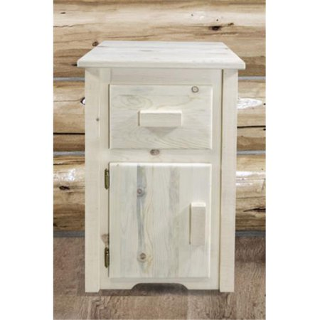 Homestead End Table with Drawer & Door Left Hinged, Ready Finish - Hinged Door Table