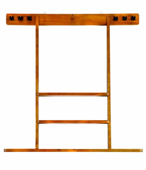 6 Pool Cue Billiard Stick Wall Rack Made of Wood Choose  Ma... Cue Rack Only