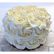"Ivory Rosette Cake 6"" Fake Cake- faux unedible Prop Decoration Dezicakes"