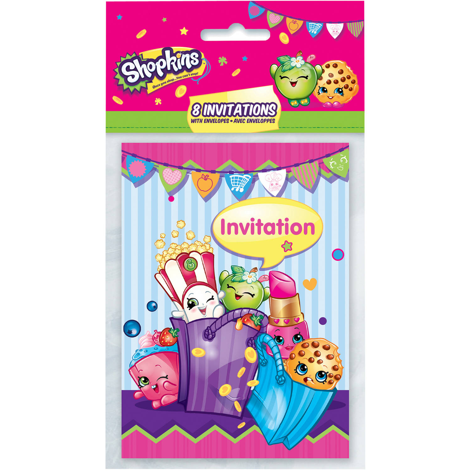 shopkins invitations 8ct walmart com
