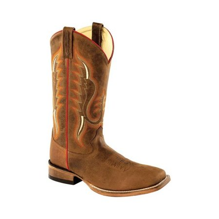 Men's Old West 13 Inch Broad Square Toe Cowboy Boot - Cheap Mens Cowboy Boots