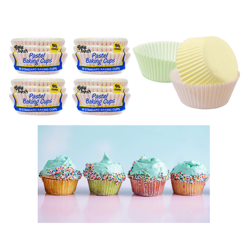 360 Baking Cups Pastel Color Cupcake Liners Bake Cake Muffin Cookie Decorations