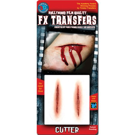 Cutter Small 3D FX Tattoos Halloween Accessory (Fx Contact Lenses Halloween)