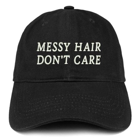 Trendy Apparel Shop Messy Hair Don t Care Embroidered Soft Cotton Dad Hat -  Walmart.com 636bd549703a