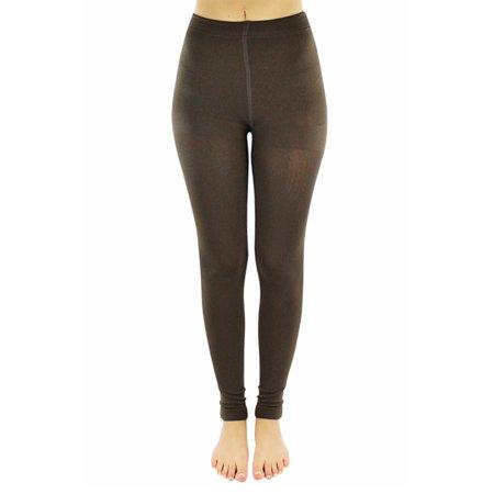 fae9d992e971a Luxury Divas - Thick Opaque Fleece Lined Leggings - Walmart.com