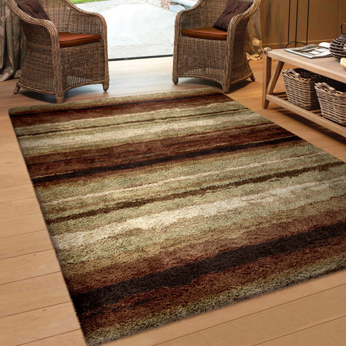 Orian Rugs Soft Shag Rural Road Red Area Rug