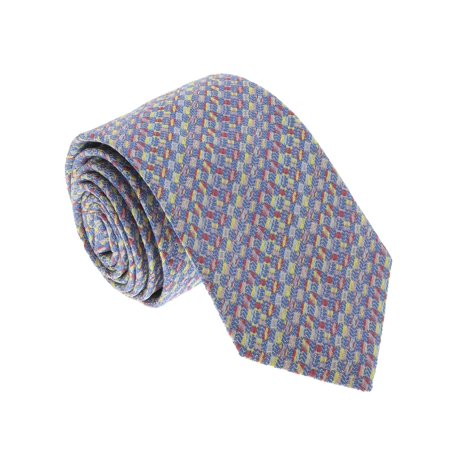 Missoni U5281 Blue/Gold Basketweave 100% Silk Tie