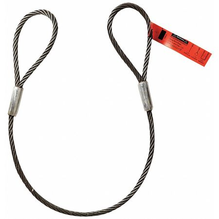 Dayton 1DNE2 Wire Rope Wire Rope Sling, 6 ft.