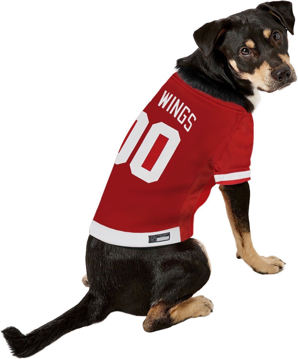 quality design 8e6c0 2b59f red wings dog jersey
