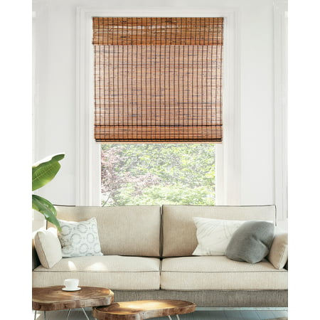 CHICOLOGY Cordless Bamboo Roman Shades