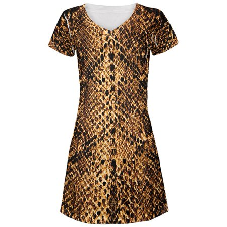 Halloween Desert Brown Snake Snakeskin Costume All Over Juniors Beach Cover-Up Dress](This Is Halloween Cover Guitar)