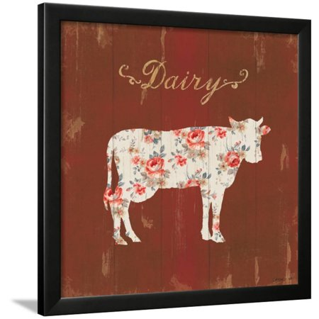 Farm Patchwork IX Framed Print Wall Art