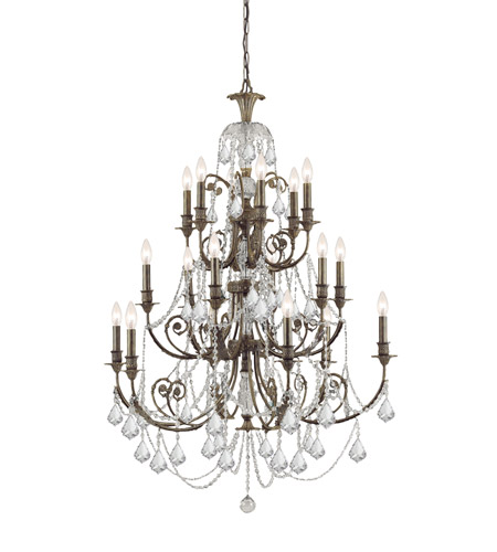 Crystorama 5117-EB-CL-S 18 Light Chandeliers