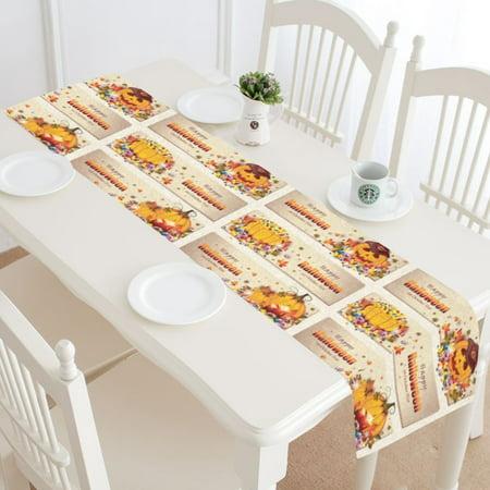 MYPOP Halloween Pumpkin Table Runner Home Decor 14x72 Inch,Pumpkin Table Cloth Runner for Wedding Party Banquet Decoration](Halloween Wedding Table Names)
