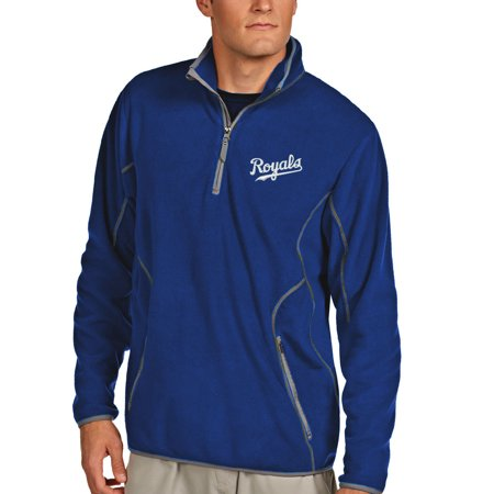 Antigua Kansas City Royals Ice Polar Fleece Quarter Zip Jacket - Royal -