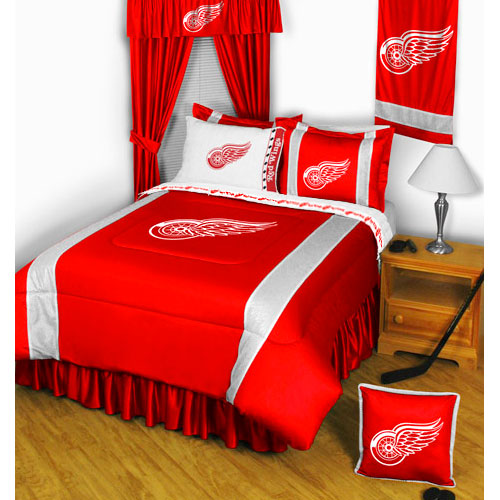 NHL Detroit Redwings Bedding Set Hockey Bed
