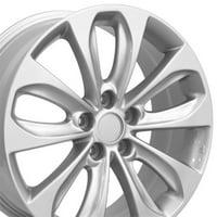 18x7.5 Wheel Fits Hyundai, Kia - Hyundai Sonata Style Silver Rim, Hollander 70804