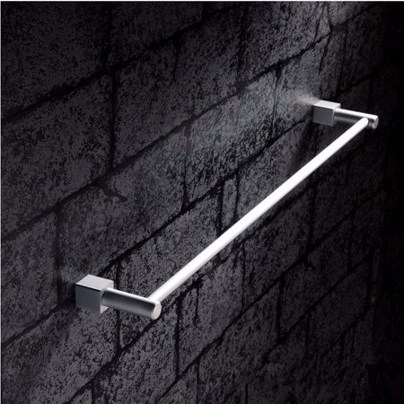 M.way 23inch 2 Bar Chrome Wall Mounted Towel Bar Rail Bathroom Double Towel Rack Holder Bar Han ger Shelf  - image 2 of 8