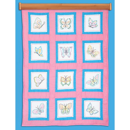 - Themed Stamped White Quilt Blocks 9
