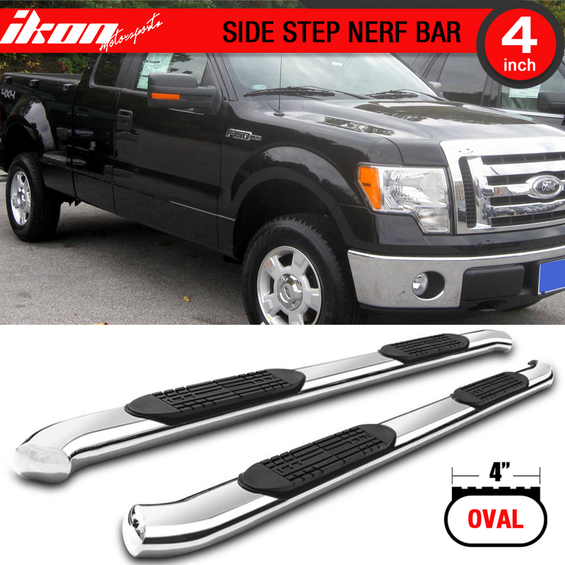 Fits 2009-2014 Ford F150 Extended Cab 4 Inches Nerf Bars